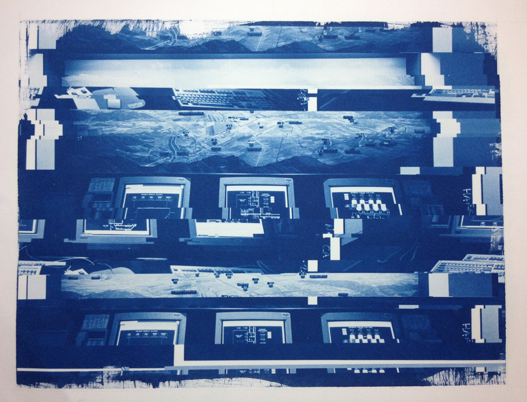 Glitch Cyanotype